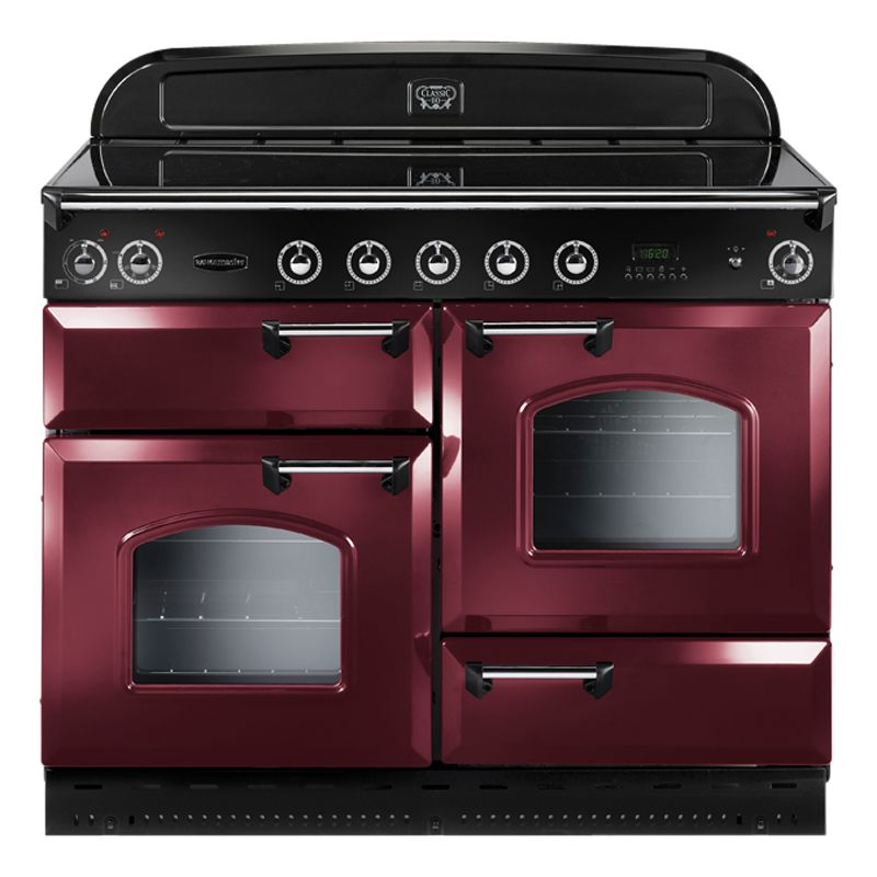Rangemaster Classic 110 Electric Range Cooker CranberryChrome Trim