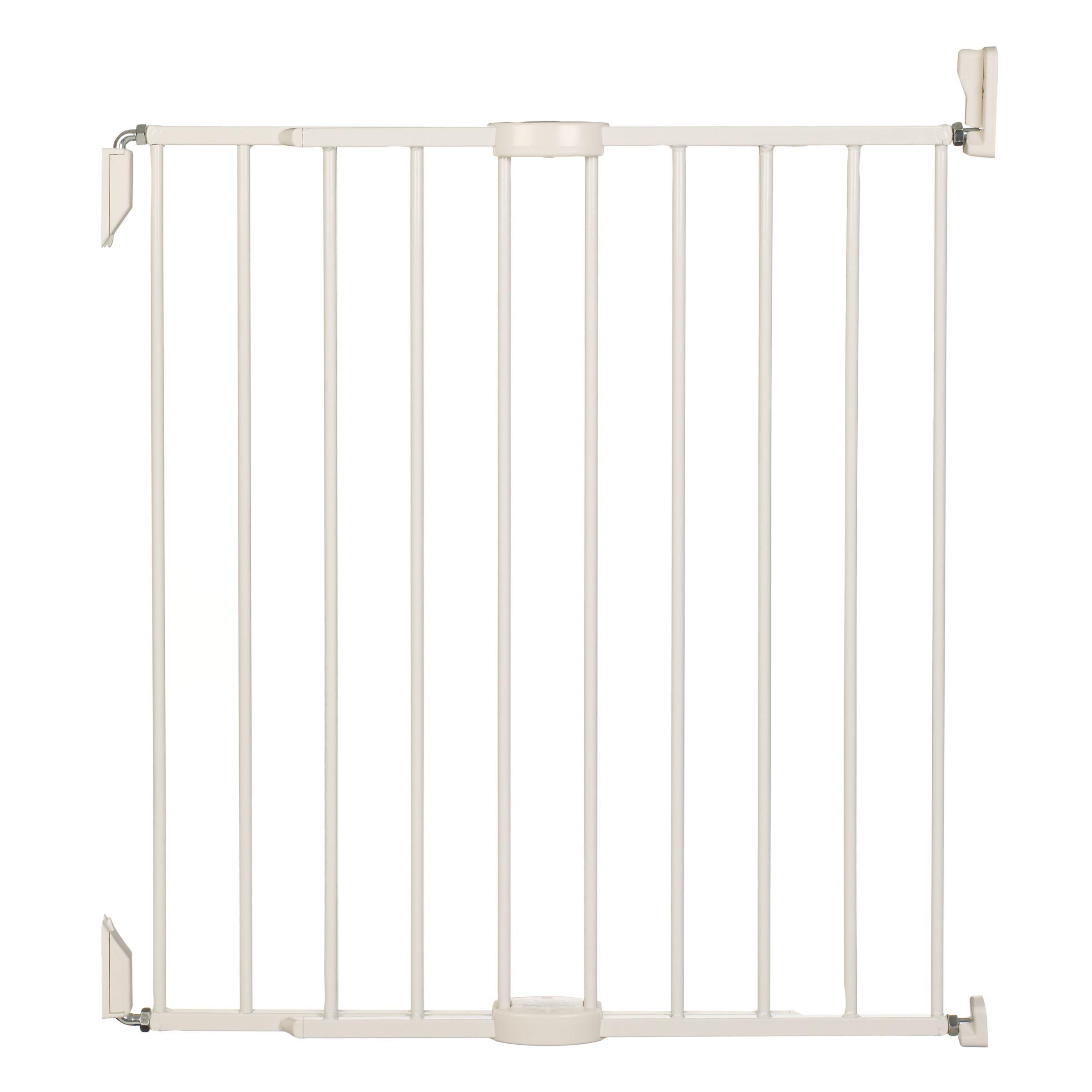 Extending Metal Stair Gate, White 230767371