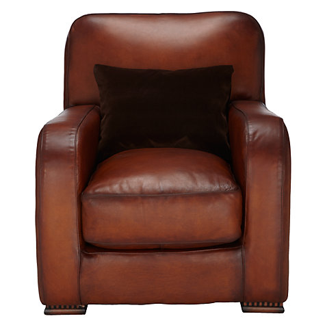 Buy Tetrad Totnes Leather Chair Online at johnlewis.com