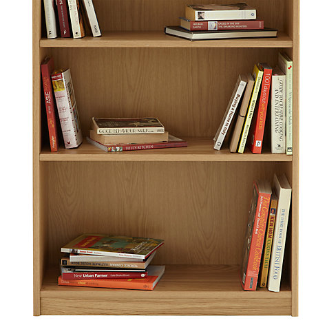 Buy John Lewis Agatha Tall Wide Bookcase, Oak Online at johnlewis.com