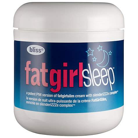 Buy Bliss Fat Girl Sleep Skin-Firming Cream, 170.5g Online at johnlewis.com