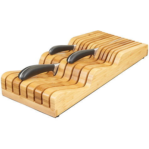 Buy Robert Welch Signature Bamboo Knife Block, 4 Piece Online at johnlewis.com
