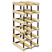 Buy RTA Winestak 12 Bottle Wine Rack, Pine and Black Steel Online at johnlewis.com