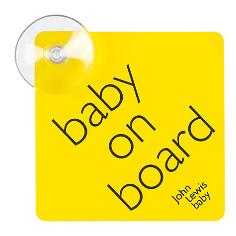 Buy Baby On Board Sign Online at johnlewis.com