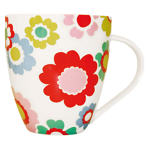 Buy Cath Kidston Electric Flowers Mug Online at johnlewis.com