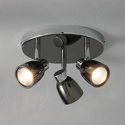 John Lewis Fenix 3 LED Spotlight Ceiling Plate, Black Pearl Nickel