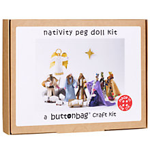 Buy Nativity Peg Doll Craft Kit Online at johnlewis.com