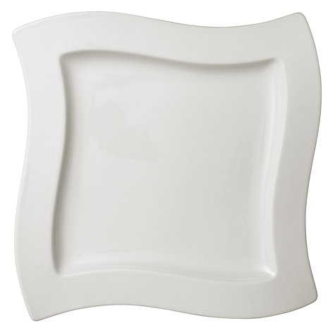 Buy Villeroy & Boch New Wave Square Plate, White, 27cm Online at johnlewis.com