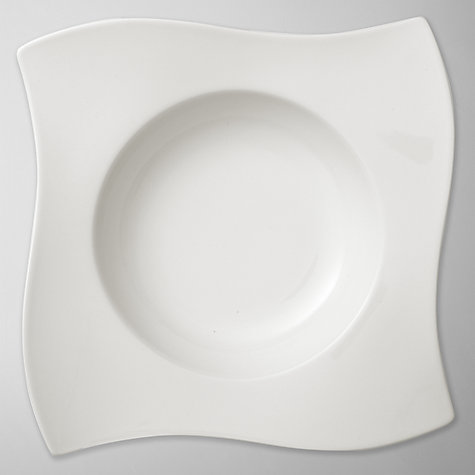 Buy Villeroy & Boch New Wave Pasta Bowl, White, 28cm Online at johnlewis.com
