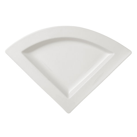 Buy Villeroy & Boch New Wave Triangular Plate, Dia.22cm, White Online at johnlewis.com
