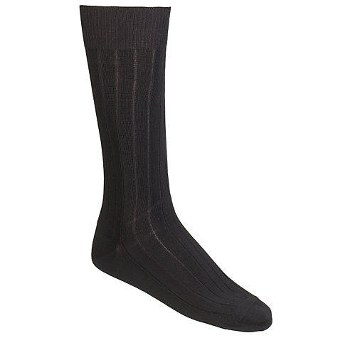 Buy Calvin Klein Rib Socks, Pack of 3, One Size, Black Online at johnlewis.com
