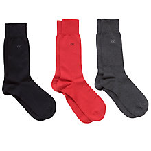 Buy Calvin Klein Cotton Dress Socks, Pack of 3, Multi, One Size Online at johnlewis.com