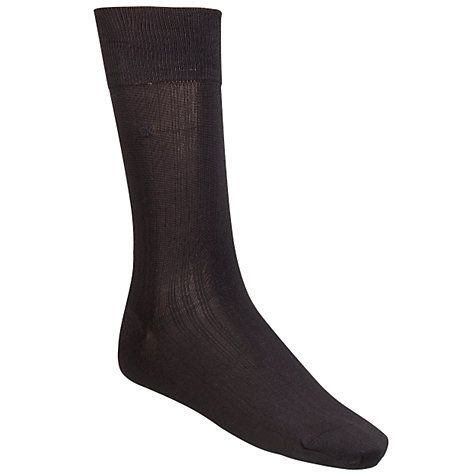 Buy Calvin Klein Silk Mix Socks, One Size, Black Online at johnlewis.com