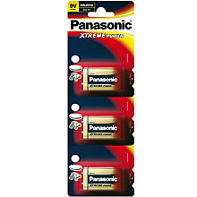 Buy Panasonic Pro Power Alkaline Battery, 9V, Pack of 3 Online at johnlewis.com