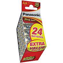 Buy Panasonic Pro Power Alkaline AA Batteries, Pack of 24 Online at johnlewis.com