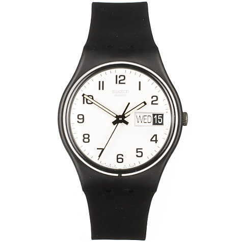 Buy Swatch GB743 Once Again Unisex Watch, Black Online at johnlewis.com