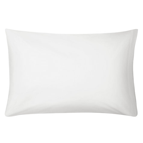 Buy John Lewis The Basics Combed Polycotton Standard Pillowcase, White Online at johnlewis.com