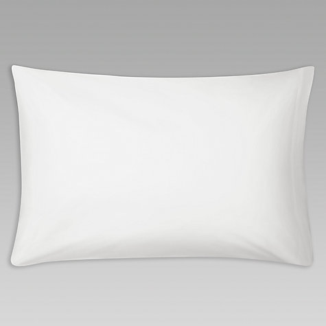 Buy John Lewis Value Combed Polycotton Standard Pillowcase, White Online at johnlewis.com