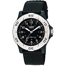Buy Lorus RRS61NX9 Boys' Sports Watch, Black Online at johnlewis.com
