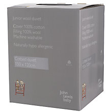 Buy John Lewis Cotbed Wool Duvet Online at johnlewis.com