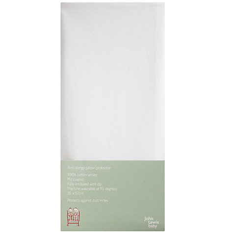 Buy John Lewis Baby Anti Allergy Pillow Protector, White Online at johnlewis.com