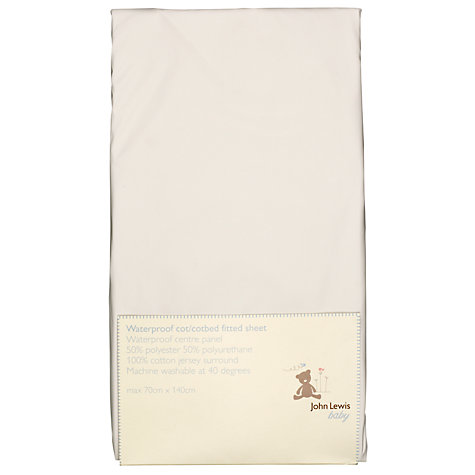 Buy John Lewis Baby Cot/Cotbed Waterproof Fitted Sheet Online at johnlewis.com
