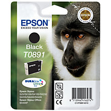 Buy Epson T0891 Monkey Inkjet Cartridge, Black Online at johnlewis.com