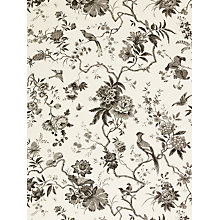 Buy Sanderson Wallpaper, Pillemont DPEMPI103, Linen/Black Online at johnlewis.com