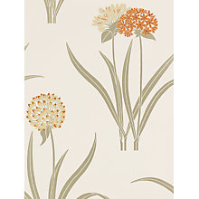 Buy Sanderson Wallpaper, Lilia DPOMLI105, Orange Online at johnlewis.com