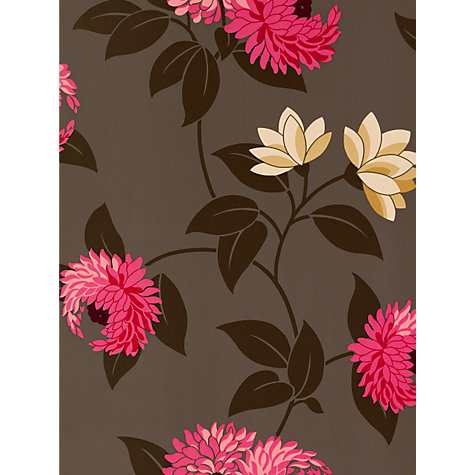 Buy Sanderson Wallpaper, Pom Pom DPOMPO103, Pink Online at johnlewis.com