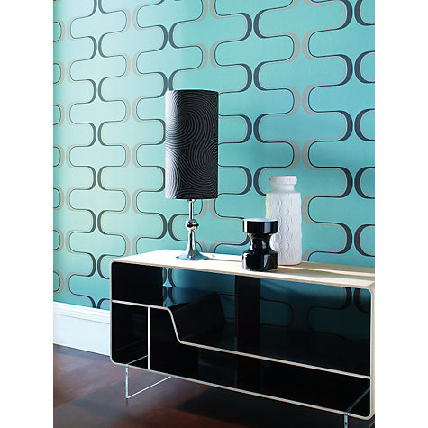 Buy Harlequin Wallpaper, Contour 60645, Teal Online at johnlewis.com