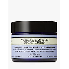 Buy Neal's Yard Vitamin E & Avocado Night Cream, 50g Online at johnlewis.com