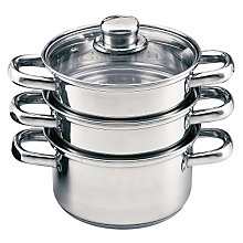 Buy John Lewis 3 Piece Steamer, 18cm Online at johnlewis.com