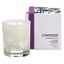 Buy Cowshed Knackered Cow Relaxing Room Candle, 235g Online at johnlewis.com