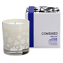 Buy Cowshed Lazy Cow Soothing Room Candle, 235g Online at johnlewis.com