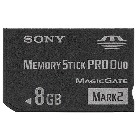 Buy Sony Memory Stick Pro Duo, 8GB Online at johnlewis.com