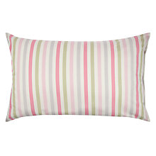 Buy Cath Kidston Candy Stripe Standard Pillowcase, Multi Online at johnlewis.com