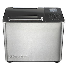 Buy Kenwood BM450 Rapid Bake Bread Maker, Stainless Steel Online at johnlewis.com