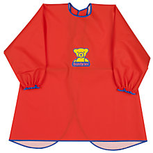 Buy BabyBjörn Eat and Play Smock, Red Online at johnlewis.com