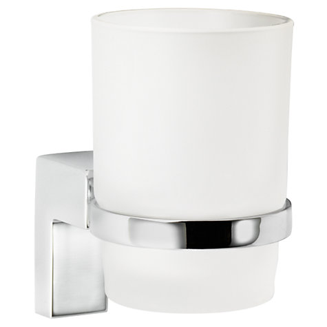 Buy John Lewis Square Tumbler and Holder, Chrome Online at johnlewis.com