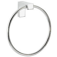 Buy John Lewis Square Towel Ring, Chrome Online at johnlewis.com