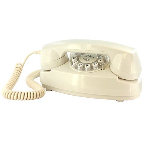Buy Wild and Wolf Cream Princess Classic Corded Telephone Online at johnlewis.com