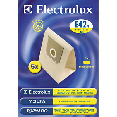 Electrolux E42N Vacuum Cleaner Bags, Pack of 5