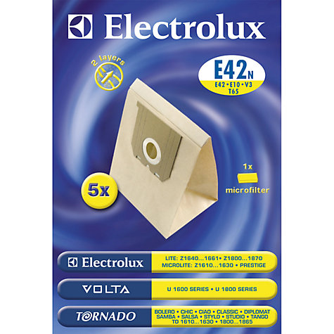 Buy Electrolux E42N Vacuum Cleaner Bags, Pack of 5 Online at johnlewis.com
