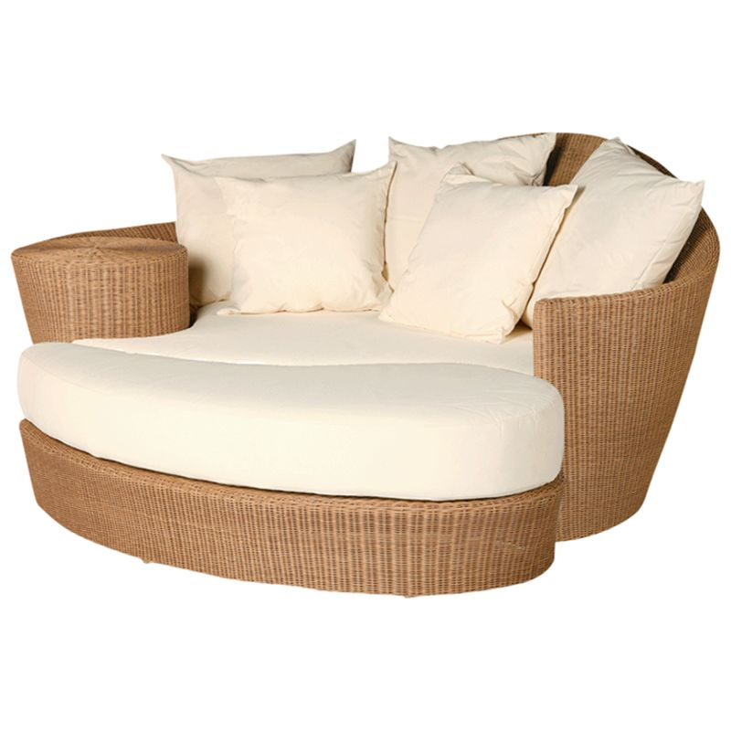 Barlow Tyrie Dune Day Beds and Ottomans, Straw / White Sand