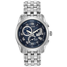 Buy Citizen BL8000-54L Men's Calibre 8700 Eco-Drive Bracelet Strap Watch, Silver/Blue Online at johnlewis.com