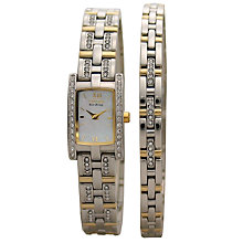 Buy Citizen Eco-Drive EG2354-65D Women's Watch and Bracelet Gift Set, Gold Online at johnlewis.com