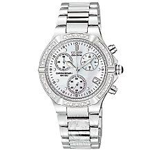 Buy Citizen Eco-Drive FB1020-52D Women's Riva Diamond Bracelet Watch, Silver Online at johnlewis.com