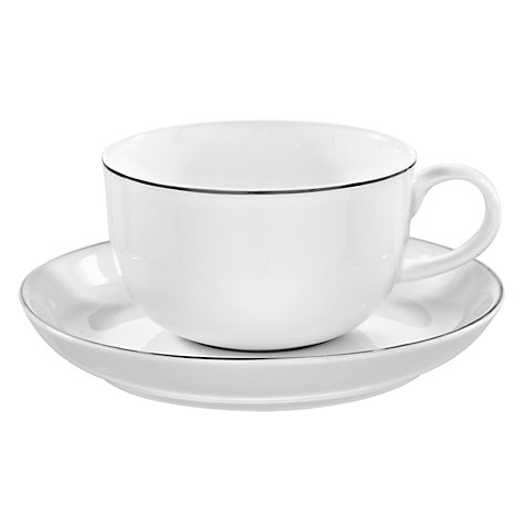 Buy Queensberry Hunt for John Lewis Platinum Tea Cup and Saucer Online at johnlewis.com