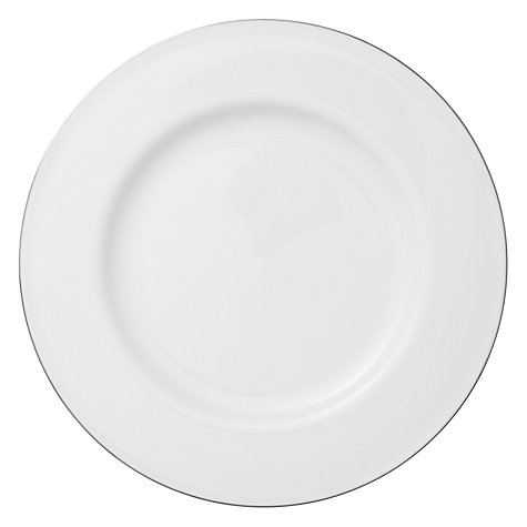 Buy Queensberry Hunt for John Lewis Platinum Bone China Plates, White Online at johnlewis.com